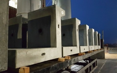 Bespoke precast terrace units ready for delivery