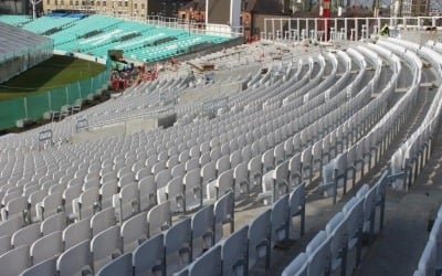kia oval stadium with precast concrete planks