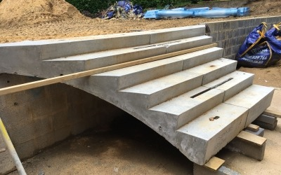 Bespoke concrete stairs installed