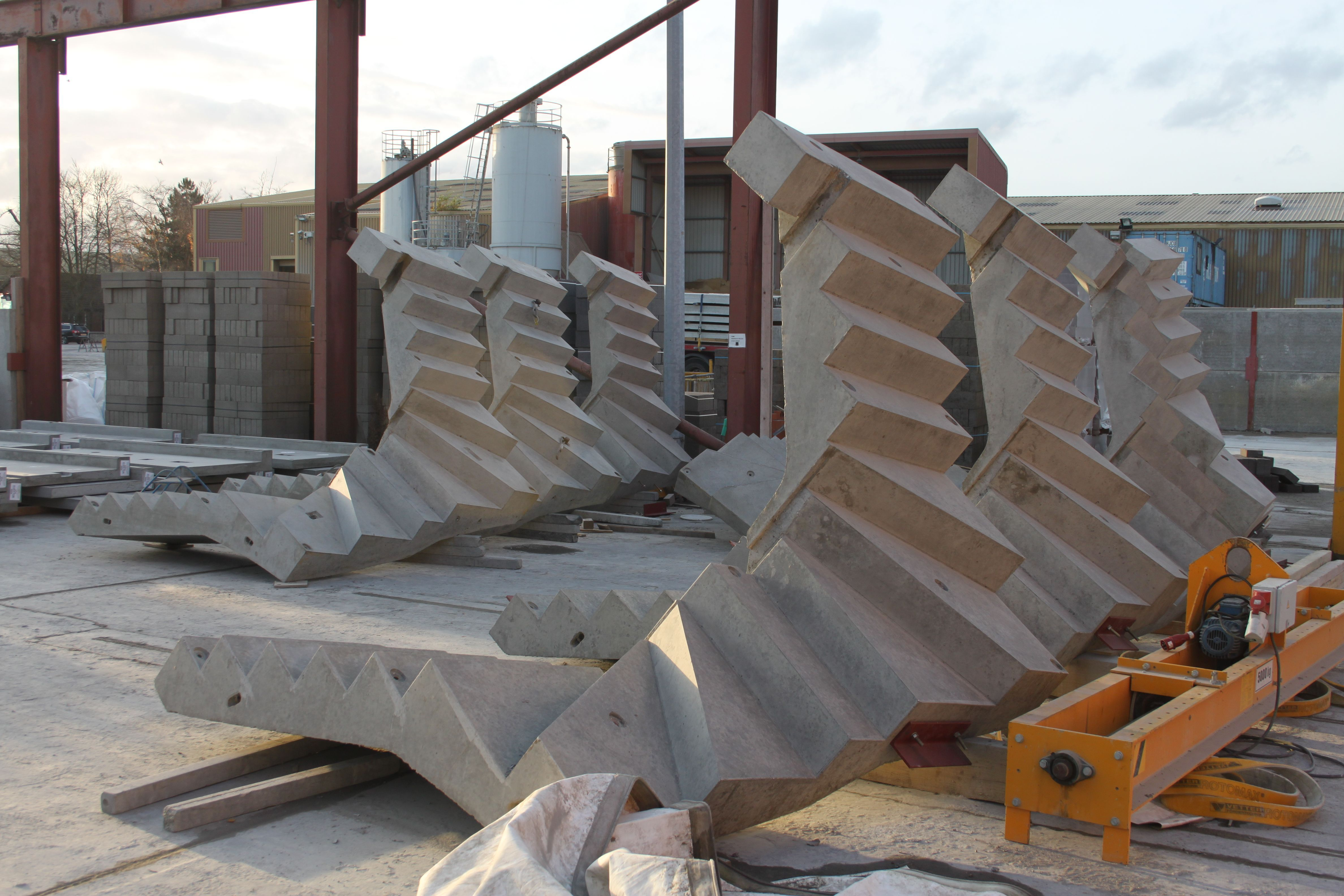 Precast Stairs Steps Landings Milbank Concrete Products