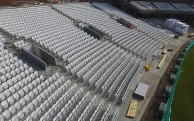 kia oval stadium seats from drone