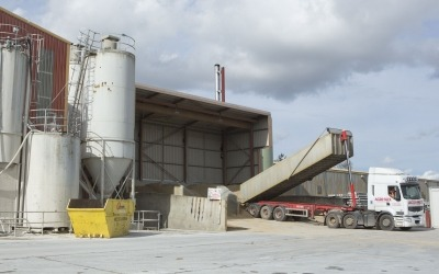 aggregate being delivered to milbank yard