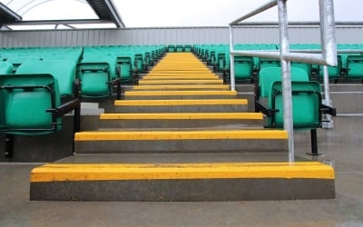 Emerald GAA football club ruislip precast concrete stair units