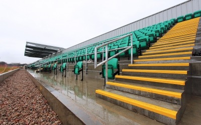 Emerald GAA football club ruislip precast concrete step units