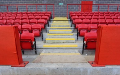precast concrete stair units at ebbsfleet football stadium