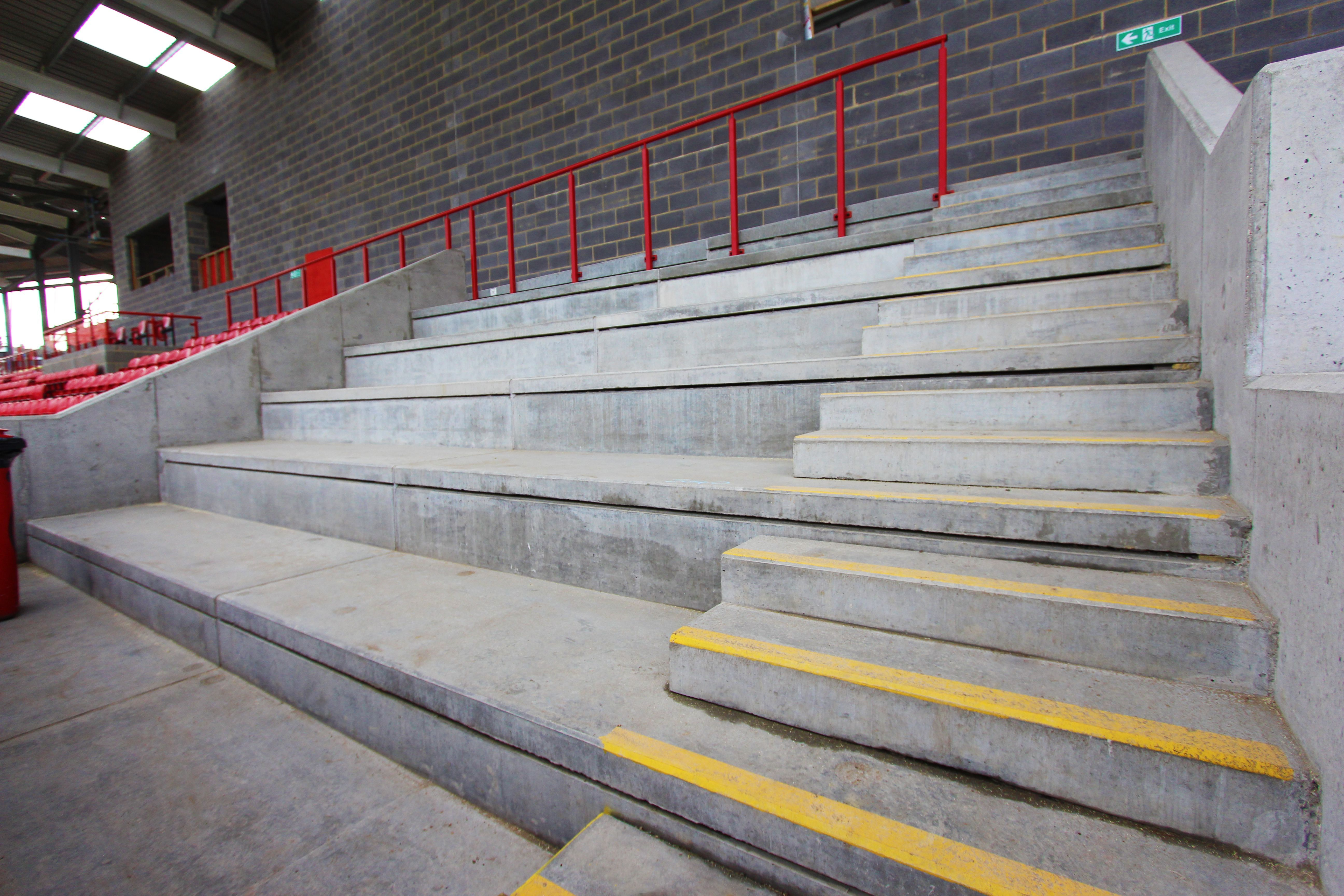 Stadium Construction Materials | Concrete Walkways | Milbank