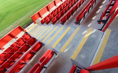 precast concrete step units at ebbsfleet football stadium