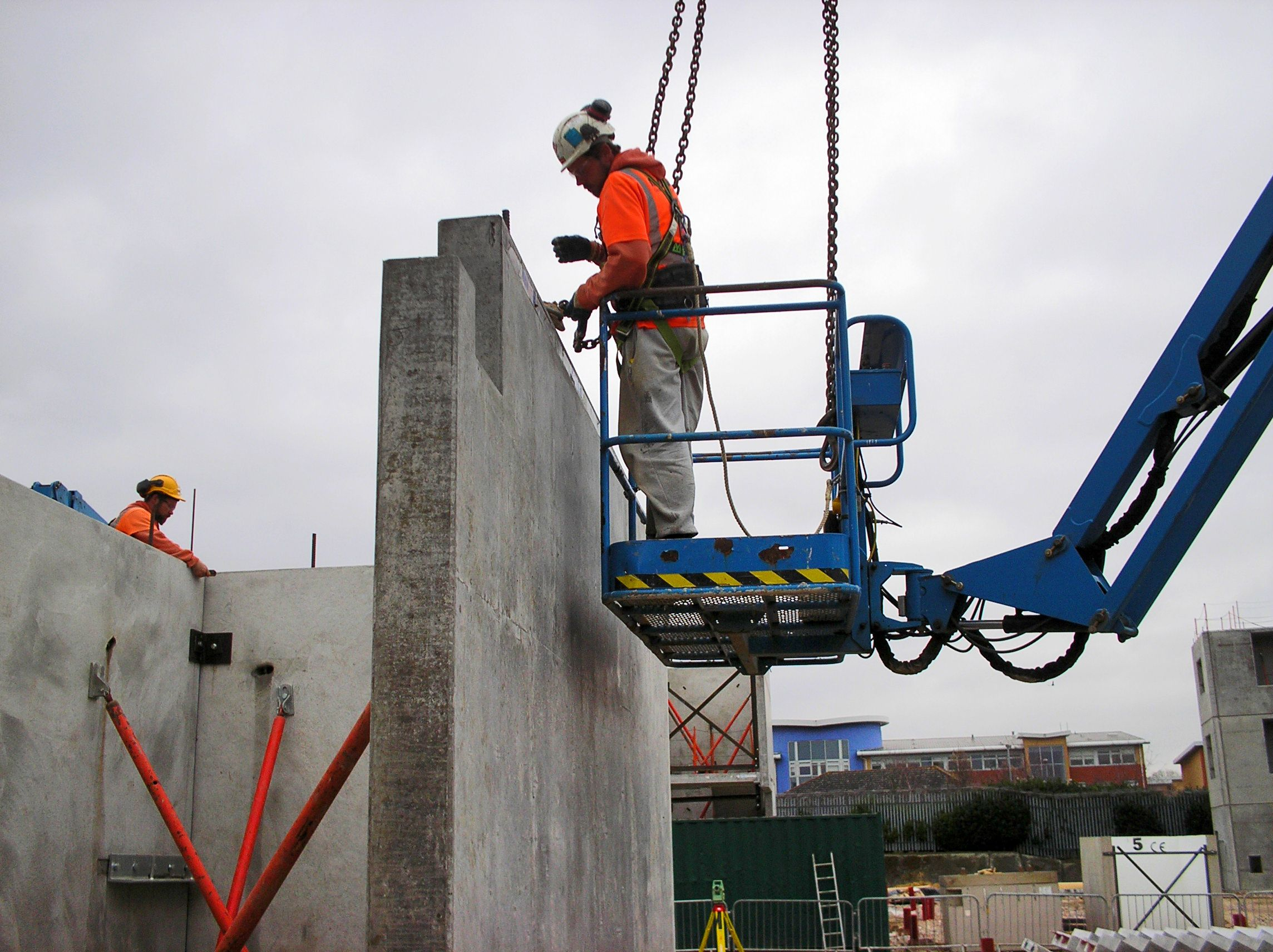 installing concrete drill tower