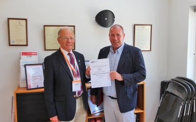 Mike Blackwood and Andy Mayne with SSAFA donation