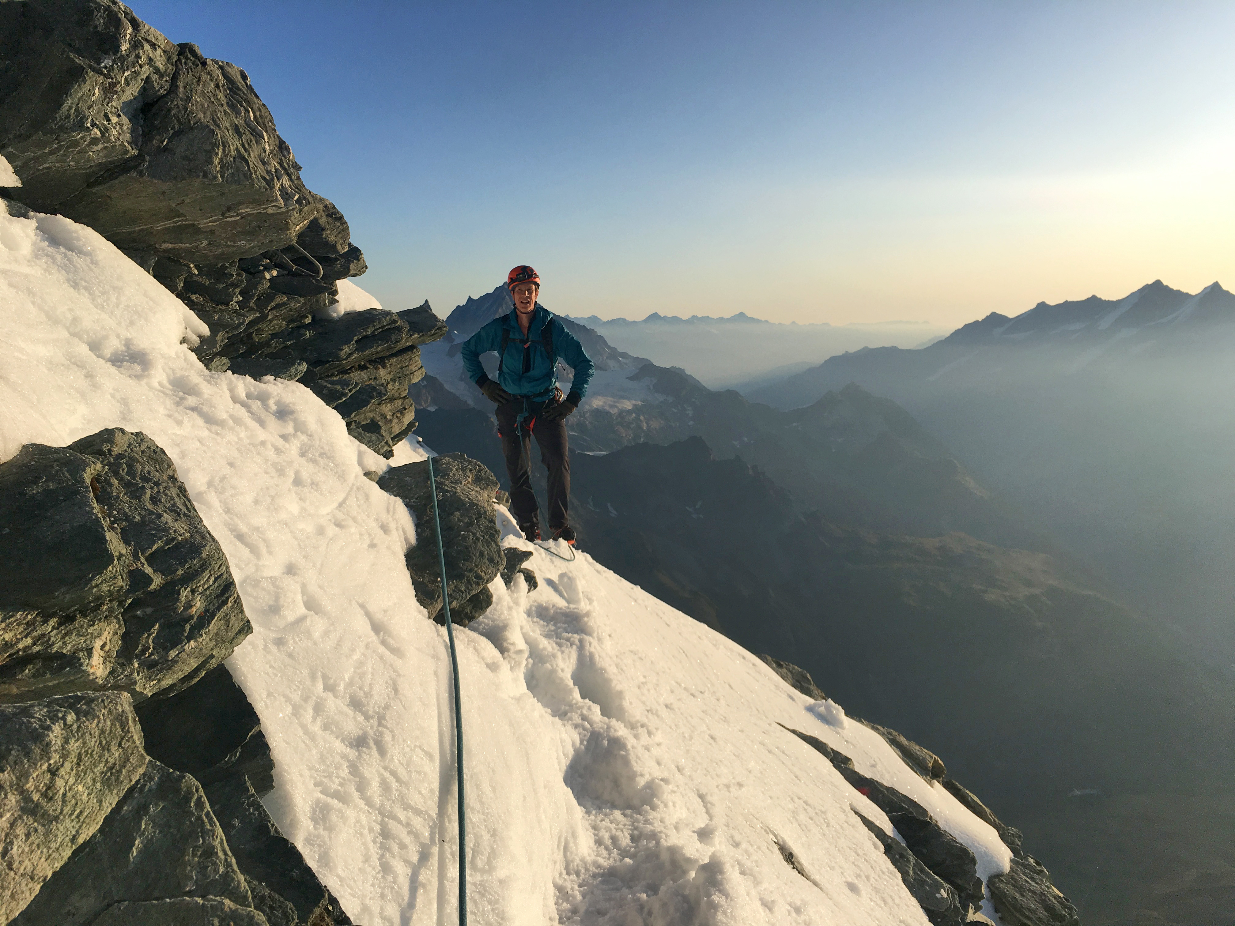 Sean Milbank on matterhorn edge