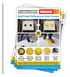 SafeTread hollowcore cover leaflets